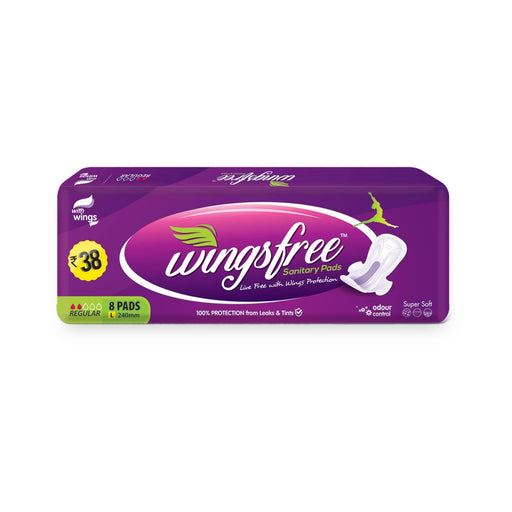 Wingsfree® Sanitary Pads with Wings and Odor Control.