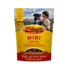 Load image into Gallery viewer, Zukes Peanut Butter Mini Naturals Dog Treats