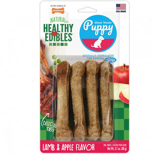 Nylabone Healthy Edibles Puppy Lamb And Apples Dog Treats