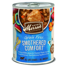 Load image into Gallery viewer, Merrick Grain Free Smothered Comfort Canned Dog Food