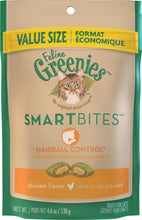 Load image into Gallery viewer, Greenies Smartbites Hairball Control Chicken Cat Treats