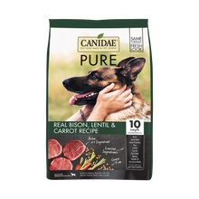 Load image into Gallery viewer, Canidae Grain Free PURE Bison, Lentil & Carrot Recipe Dry Dog Food