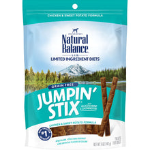 Load image into Gallery viewer, Natural Balance Limited Ingredient Jumpin Stix Chicken & Sweet Potato Formula Dog Treats