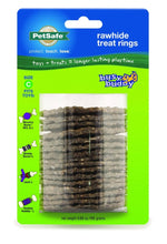 Load image into Gallery viewer, PetSafe Busy Buddy Natural Rawhide Ring Treats Dog Toy Refill