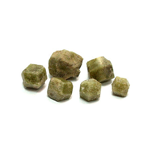 Small Green Garnet Crystals