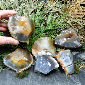 Natural Agate 3.25-3.5in