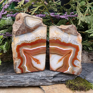 #AG-255 Agate Bookends