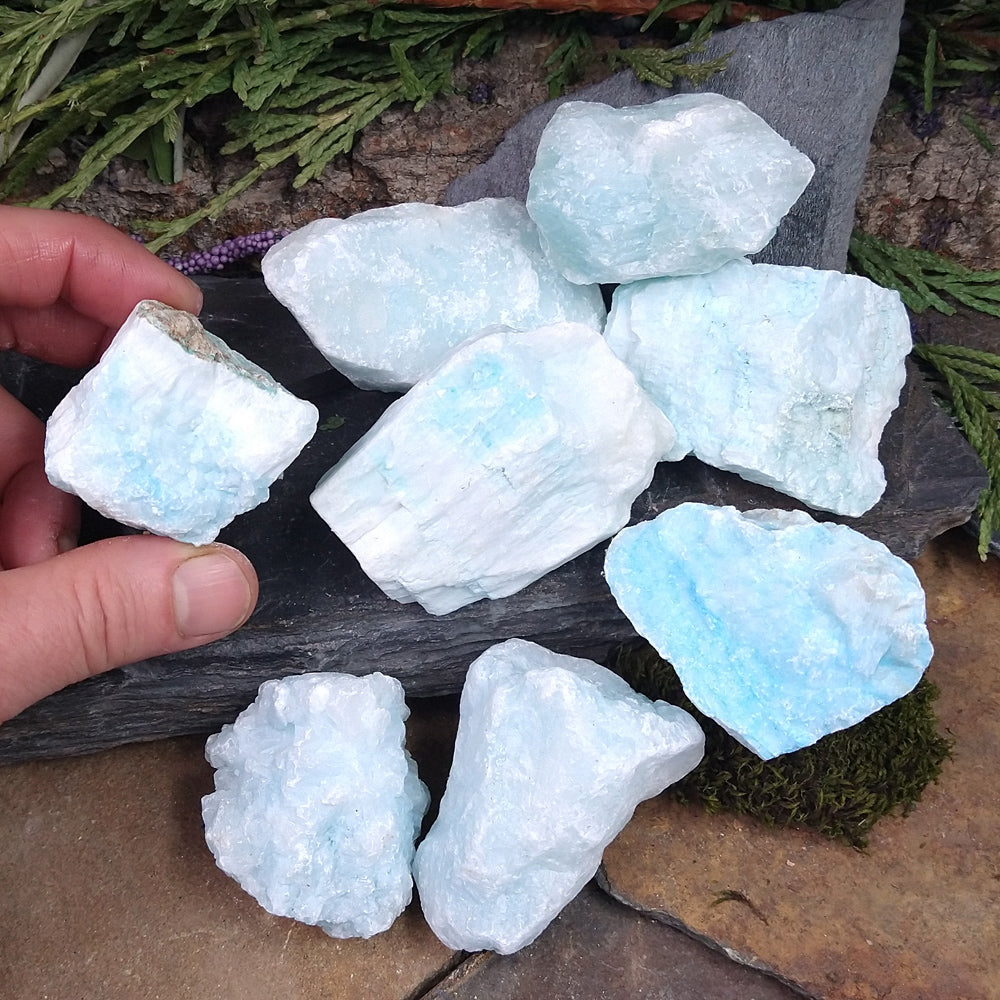 #AR-60D Small Blue Aragonite