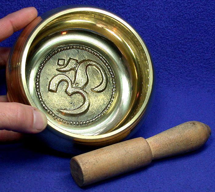 Brass Om Singing Bowl