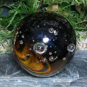 #GLS-111 Amber Glass Sphere