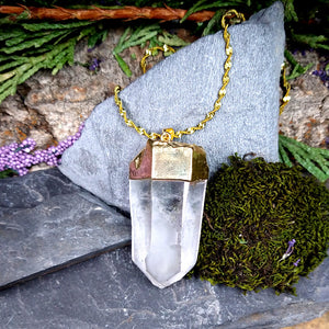 #JW-Q108 Large Quartz Crystal Pendant