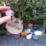 #KD-SET11 Rock Pouch & Stones