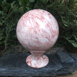 #OX-33 Pink Onyx Sphere with stand