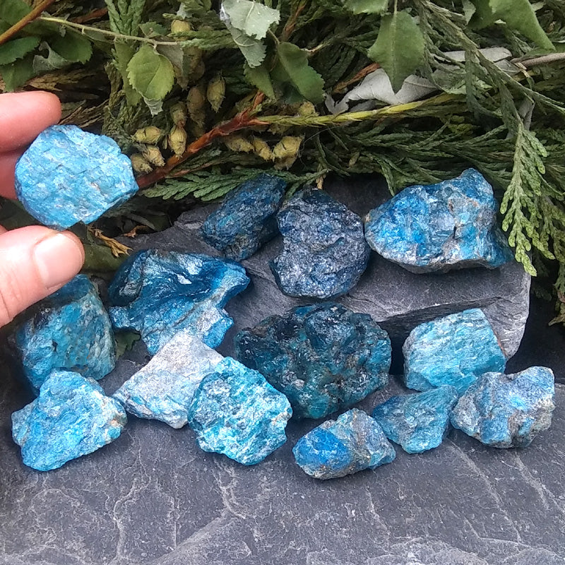 Rough Blue Apatite by pound