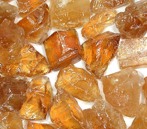 Rough Citrine Calcite by the pound
