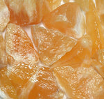 Rough Orange Calcite by the pound