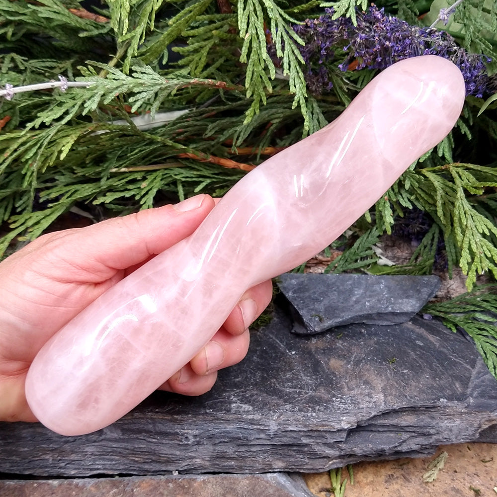 #RQ-112 Rose Quartz Massage Wand