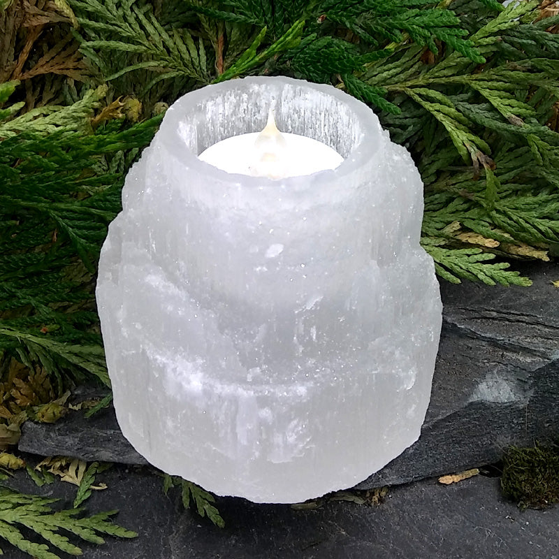 #SEL-95 Selenite Candle holder