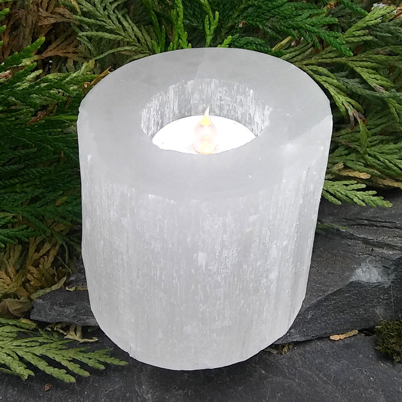#SEL-96 Selenite Candle holder