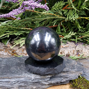 #SH-14 Shungite Sphere with stand