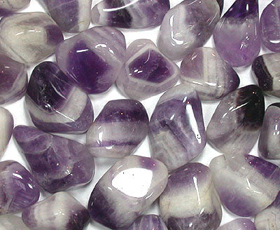 Tumbled Banded Cape Amethyst
