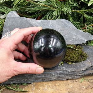 #TC-554 Black Tourmaline Sphere