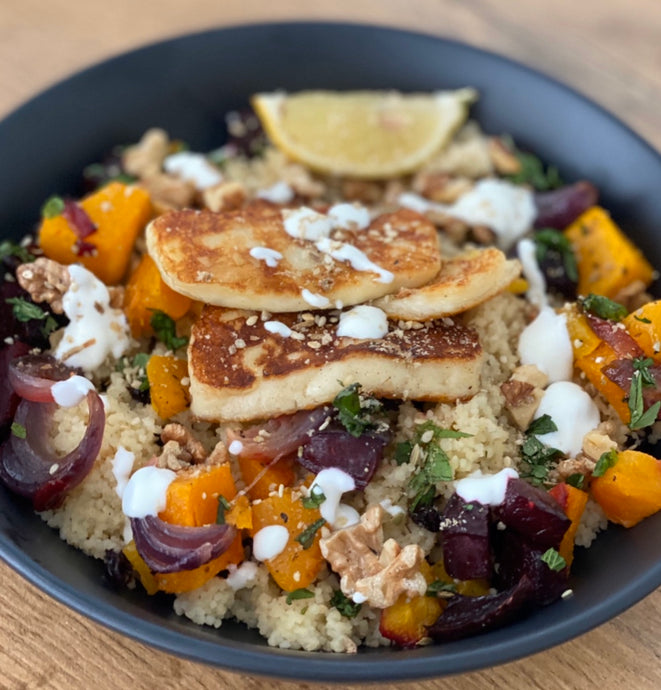 Pumpkin and Beetroot Haloumi Salad