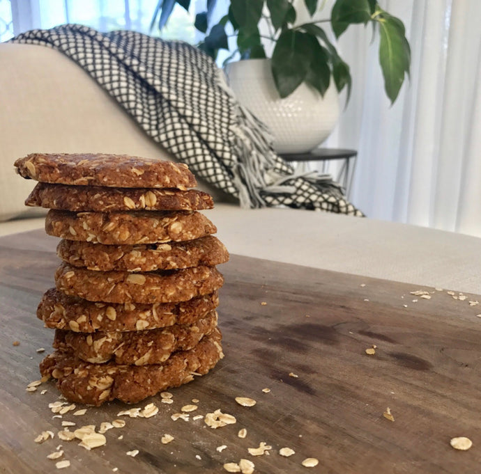 Healthy Anzac Biscuits