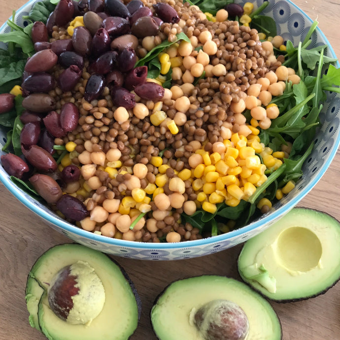 Avocado Legumes Mix Salad under 10 minutes