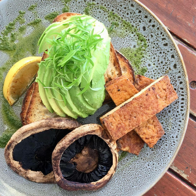Delicious Avocado Mushroom Tofu Breakfast