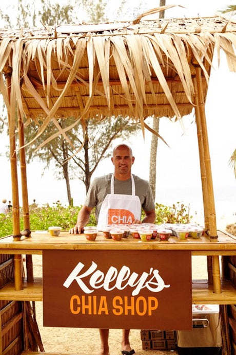 Kelly Slater talks about Fitness, Food and his Chia Shop
