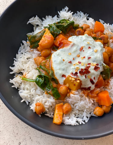 Coconut Chickpea Curry recipe by Dani Stevens