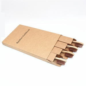 Bamboo Toothbrushes 100% Environmentally Friendly - Soft Bristle