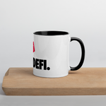 JUST DEFI. Mug with Color Inside