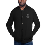 Ethereum Outlined Embroidered Champion Bomber Jacket