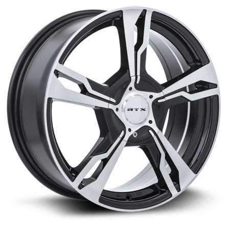 RTX Alloy Wheels FIGHTER 17X7 5-100/114.3 45P C73.1 BLACK MCH - AutoPartsDistrict