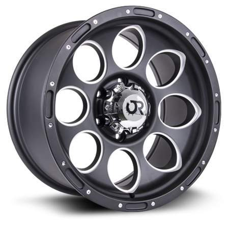 RTX Offroad Alloy Wheels BLAST II 17X9 5-127 15P C71.5 BLACK MILLED - AutoPartsDistrict