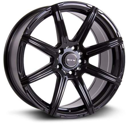 RTX Alloy Wheels COMPASS 17X7.5 5-114.3 40P C73.1 BLACK - AutoPartsDistrict