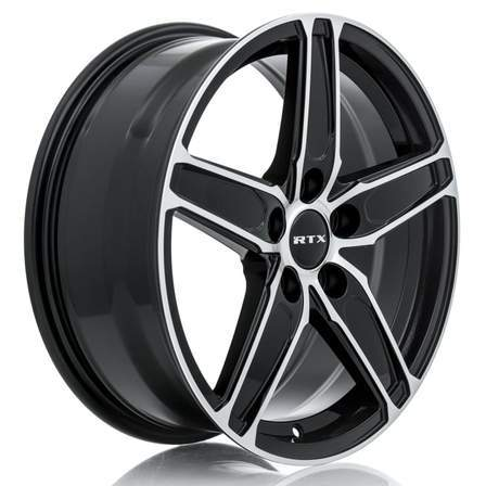 RTX Alloy Wheels FROST 17X7 5-114.3 38P C60.1 BLACK MCH - AutoPartsDistrict