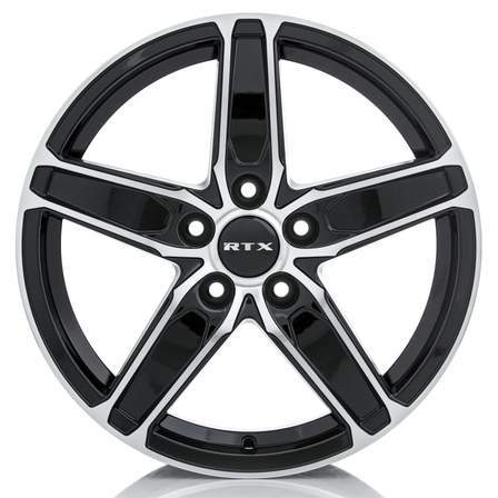 RTX Alloy Wheels FROST 17X7 5-114.3 42P C64.1 BLACK MCH - AutoPartsDistrict