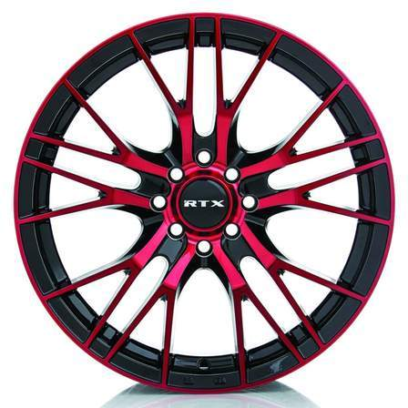 RTX Alloy Wheels VERTEX 16X7 5-112 40P C57.1 BLACK-MCH RED - AutoPartsDistrict