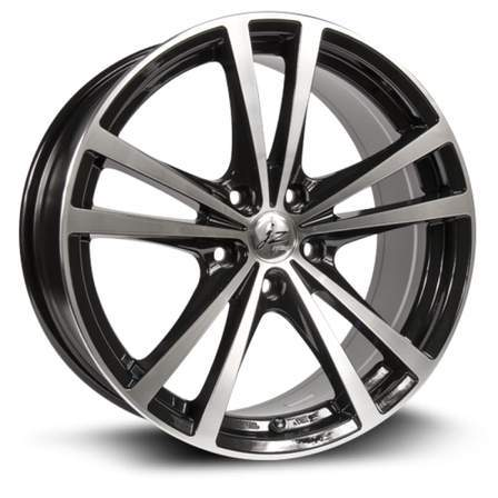 RTX Alloy Wheels FORCE 18X8 5-114.3 45P C73.1 BLACK MCH - AutoPartsDistrict