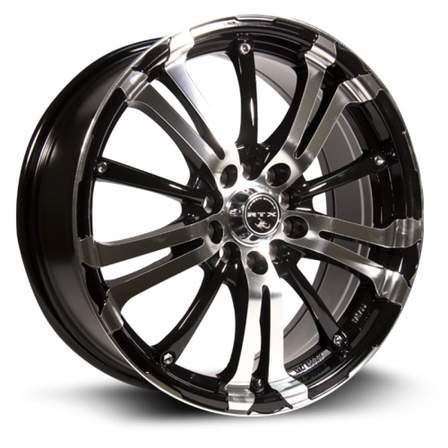 RTX Alloy Wheels ARSENIC 15X6.5 4-100/108 40P C73.1 BLACK MCH - AutoPartsDistrict