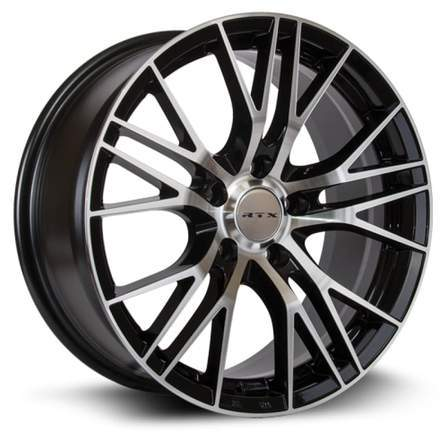 RTX Alloy Wheels VERTEX 18X8 5-108 38P C63.4 BLACK MCH - AutoPartsDistrict