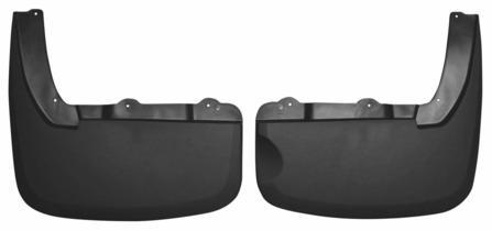 Husky Liners Muds & Splash Guard Husky Liners 57191 - Dually Rear Mud Guards - Black - RAM DUALLY 10-18 - AutoPartsDistrict