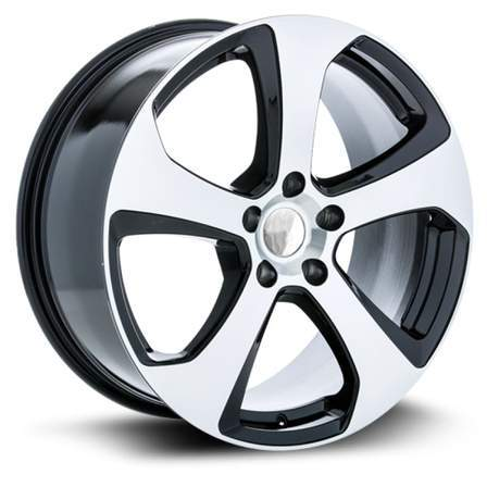 RTX Alloy Wheels MK7 17X7.5 5-112 42P C57.1 BLACK MCH - AutoPartsDistrict