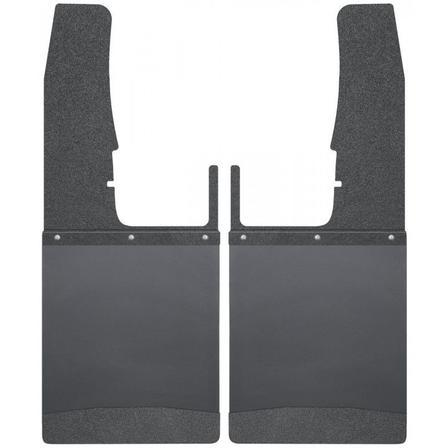 "Husky Liners Muds & Splash Guard Husky Liners 17103 - Kick Back Mud Flaps Front 12"" Wide - Black Top and Black Weight - RAM 09-19 - AutoPartsDistrict"