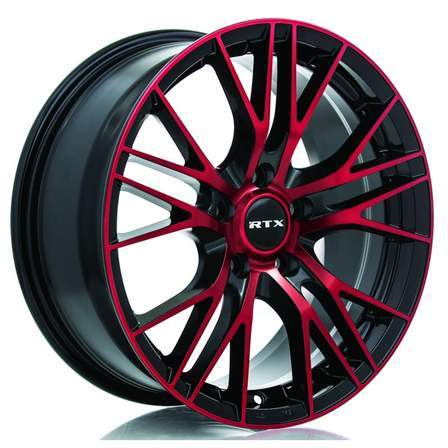 RTX Alloy Wheels VERTEX 20X8.5 5-114.3 38P C73.1 BLACK-MCH RED - AutoPartsDistrict