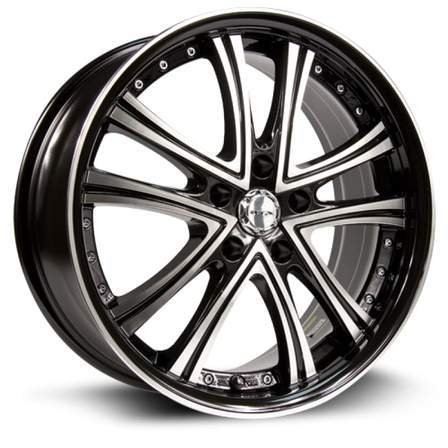 RTX Alloy Wheels ALLURE 20X8.5 5-114.3 35P C73.1 BLACK MCH - AutoPartsDistrict
