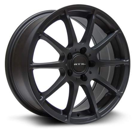 RTX OE Alloy Wheels MUNICH 18X8 5-112 45P C66.6 MATTE BLACK - AutoPartsDistrict